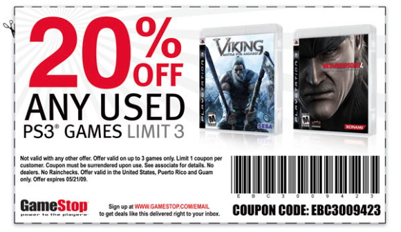 Video game action coupon code