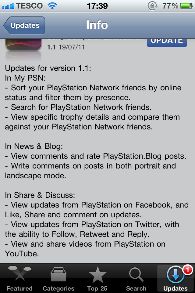 Official PlayStation App Update 1 1 Available Now
