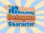 HD Adventures of Rotating Octopus Character