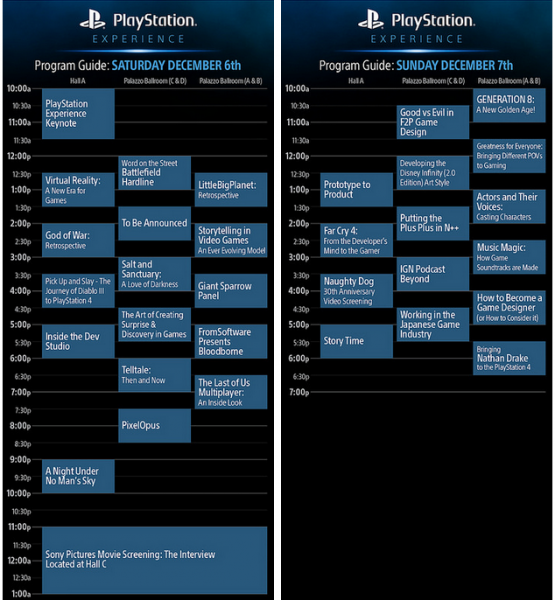 playstationexperienceschedule