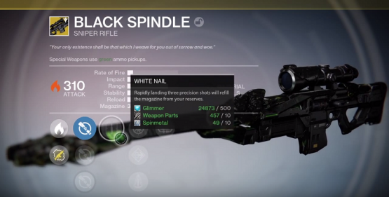 Destiny Black Spindle Exotic