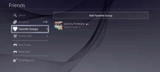 Don't Create a Favorite Group on PS4 Update 3 00, It Will