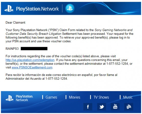 Sony Begins Rolling Out Free Codes to Compensate 2011 PSN Breach
