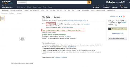 ps4-listing-amazon-spain