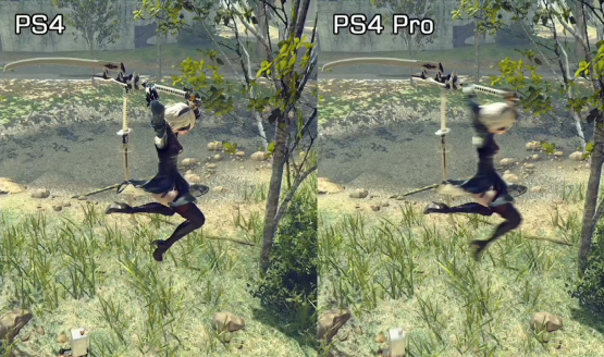 Nier Automata PS4 vs PS4 Pro Comparison Video
