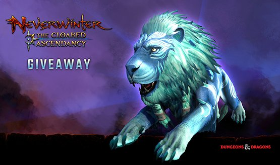 Neverwinter Azureous Lion Mount Giveaway – First Come, First Served!