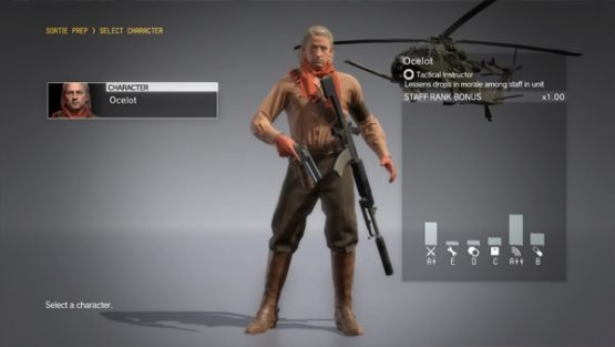revolver ocelot now playable in metal gear solid v