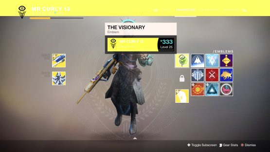Destiny 2 the Visionary Emblem