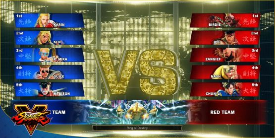 street fighter 5 team versus mode