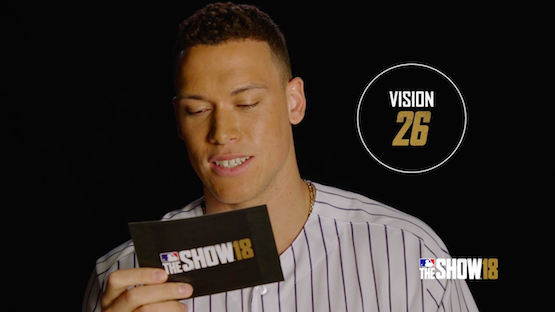 Watch MLB The Show 18's Aaron Judge React to His Ratings