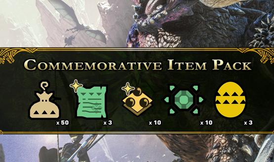 Monster Hunter World Commemorative Item Pack