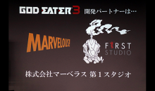 God Eater 3 developer partner is Marvelous First Studio