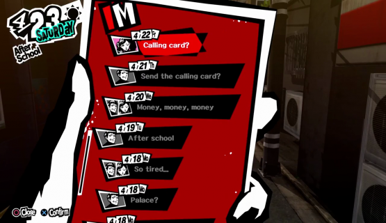 social media in games - Persona 5 chat