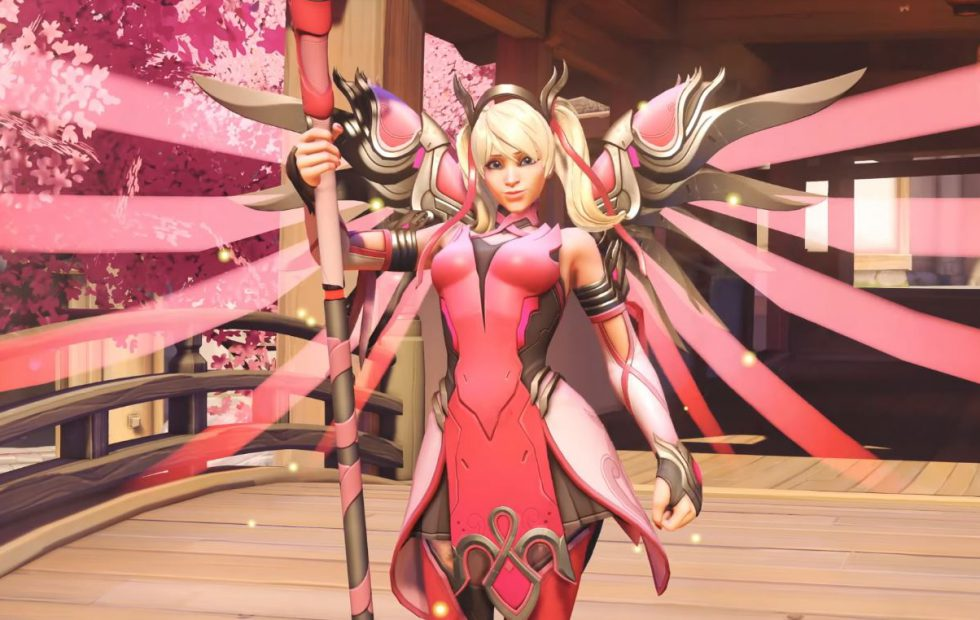 sony wrapped in overwatch pink mercy skin profit controversy