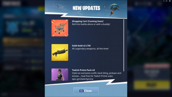 fortnite adds shopping cart
