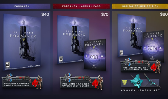 destiny 2 forsaken price ps4