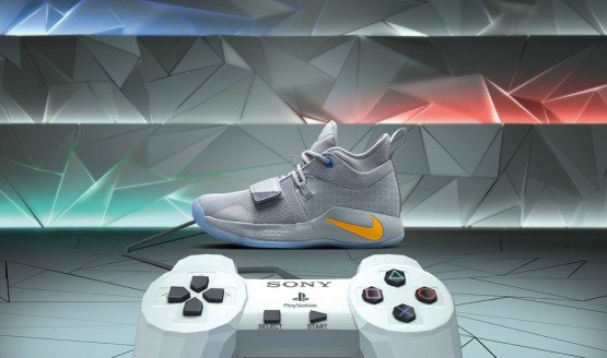297cd452dcbb Paul George s New Sneakers Are as Detailed as the PlayStation Classic
