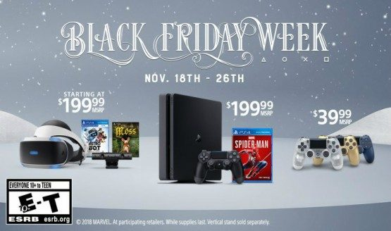 Sony's Black Friday 2018 PS4 Deals Include $200 Spider-Man Bundle