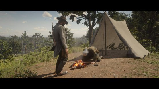 Red Dead Redemption 2: Arthur confronts Comstock about his past as a slave catcher.