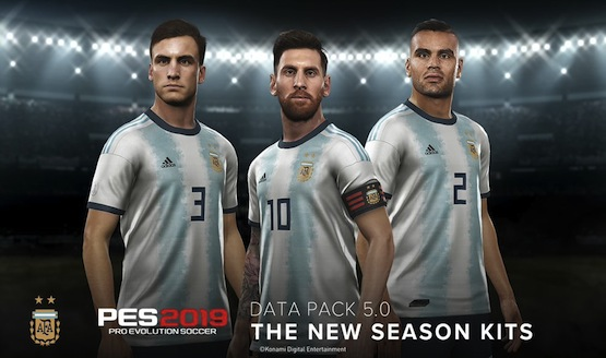 Player Faces and Team Uniforms Updated in PES 2019 Data Pack 5 0