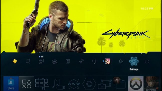 A Free Cyberpunk 2077 PS4 Theme is Available to Download Now