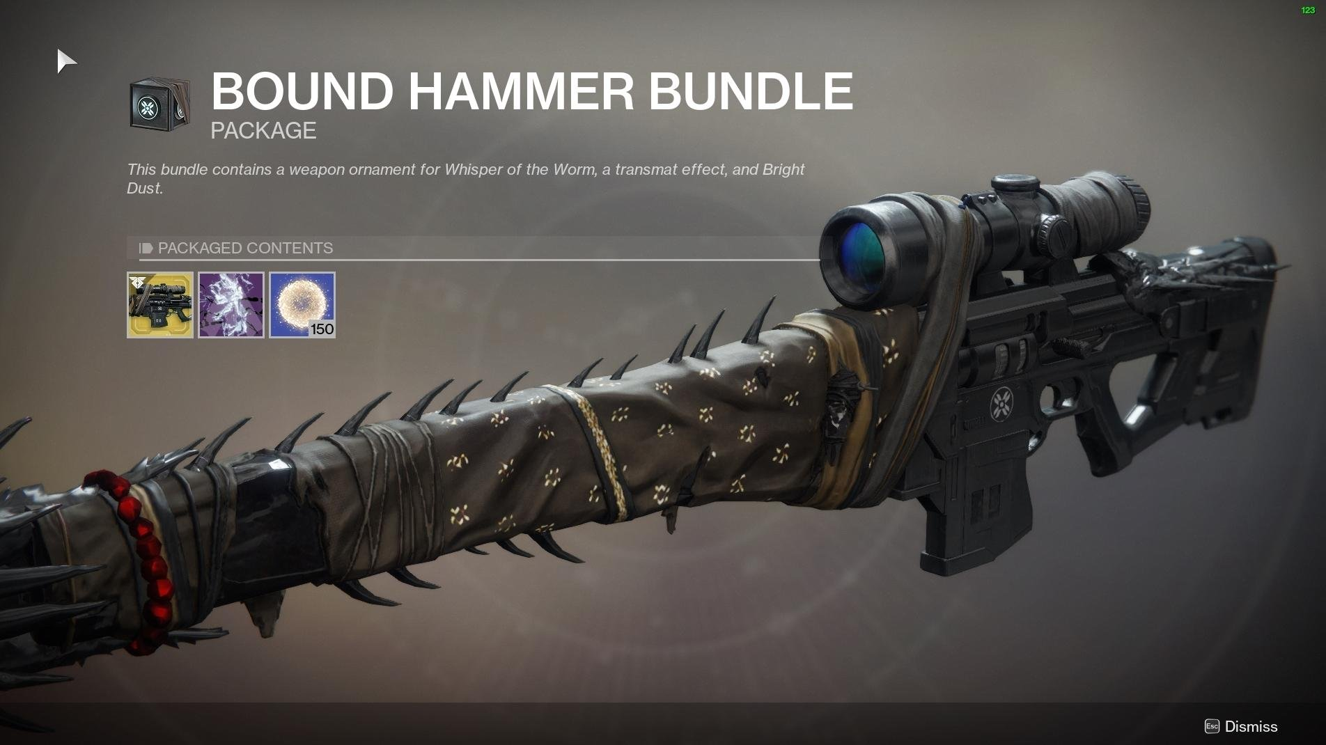 Destiny 2 microtransactions whisper of the worm ornaments zero hour