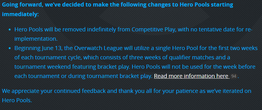 overwatch hero pools removed