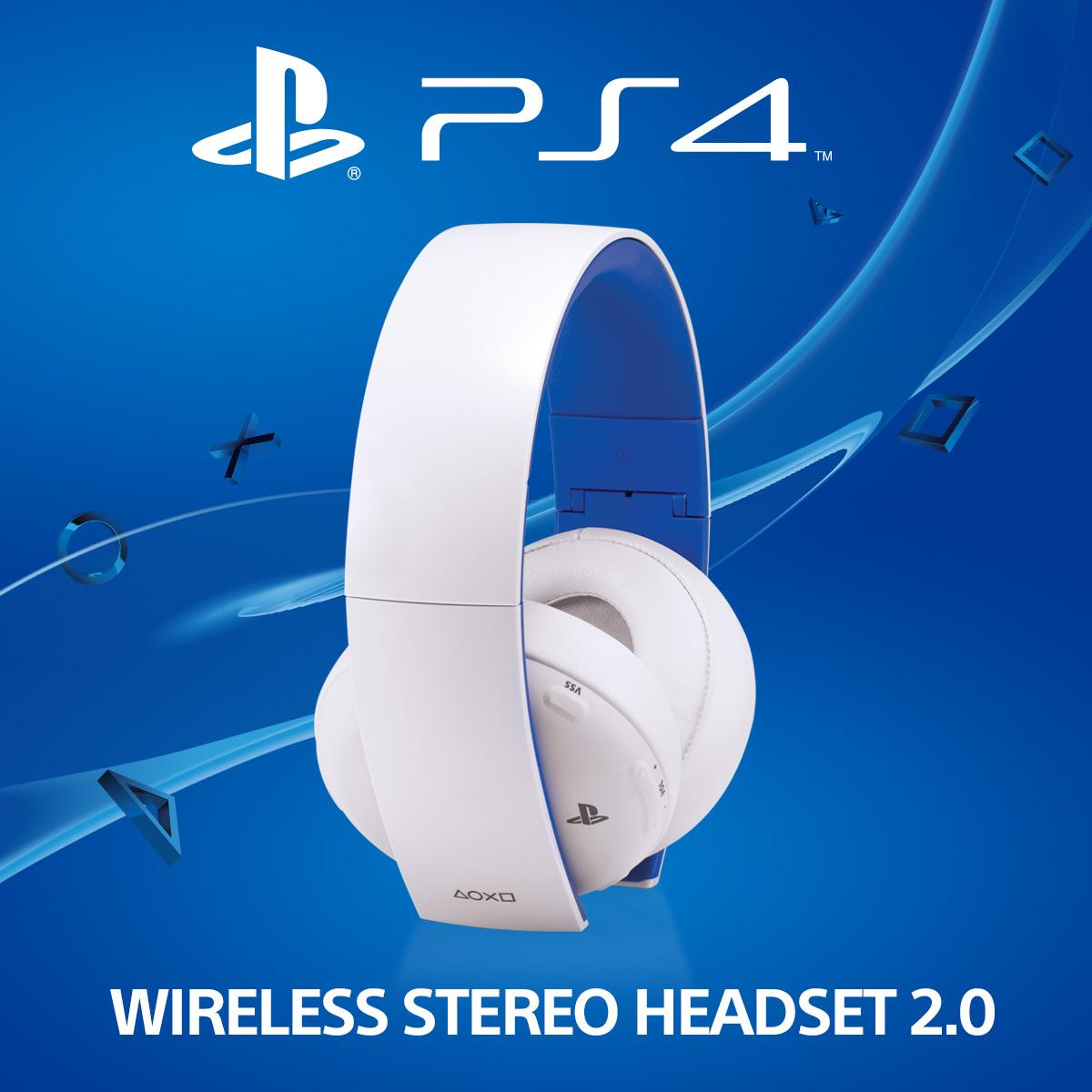 PS4 White Wireless Stereo Headset