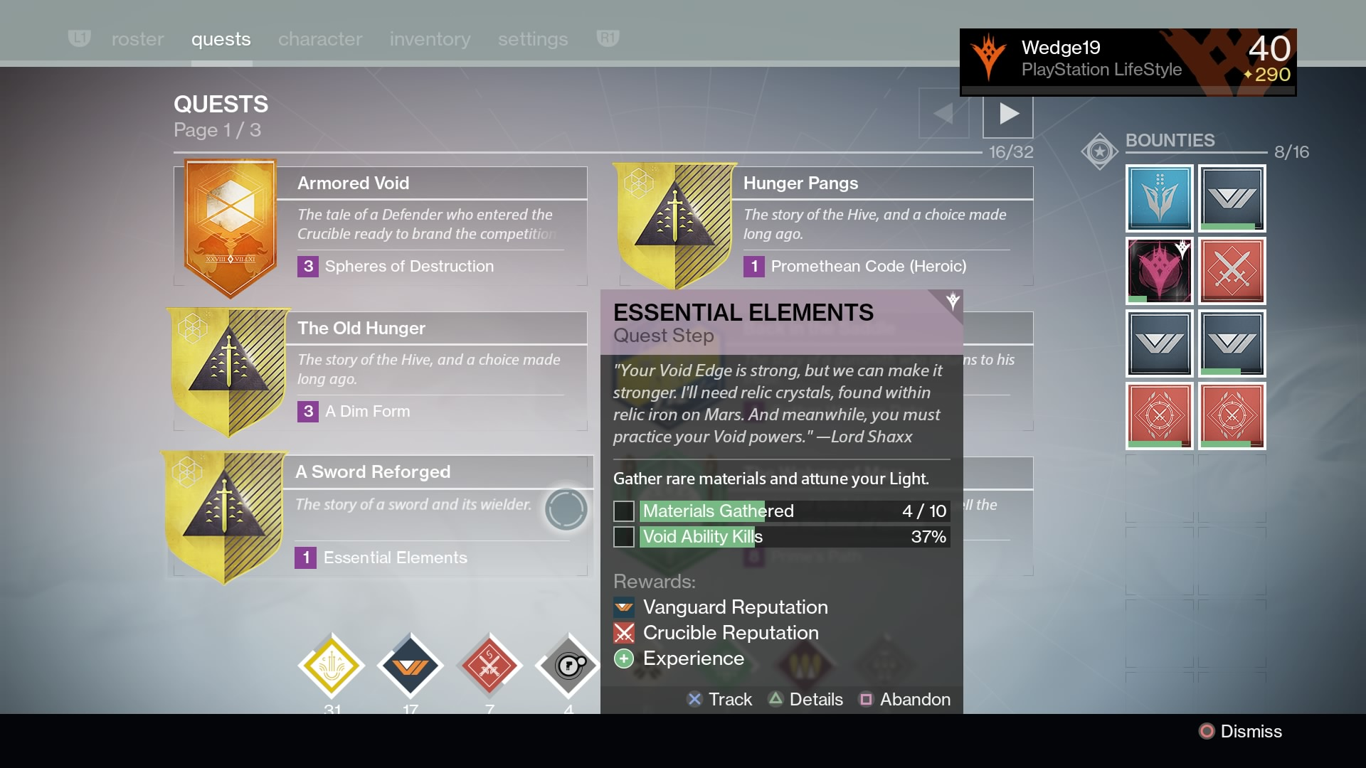 8) Exotic Gear Questlines