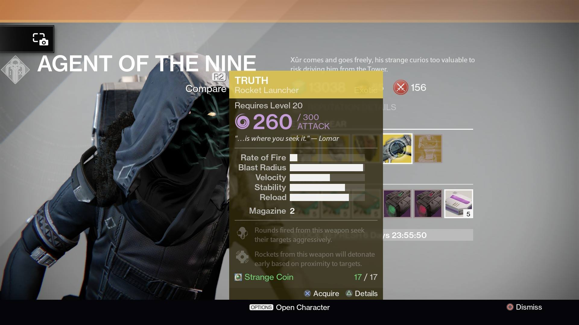 Destiny xur location for october 17 2014 revealed exotic weapon goes