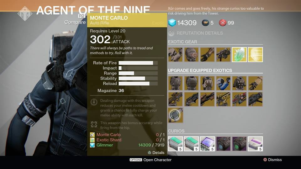 Destiny Xur Location and Items for December 19, 2014 Listed, Pre ...