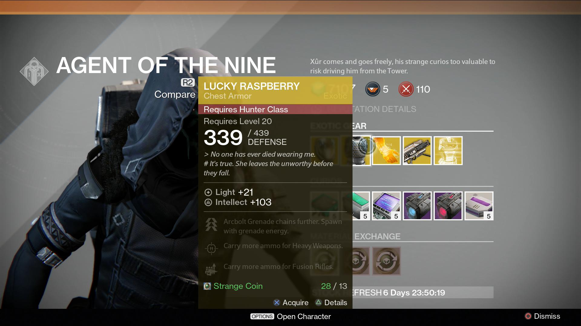 What did xur sell last week click for details what did xur sell last