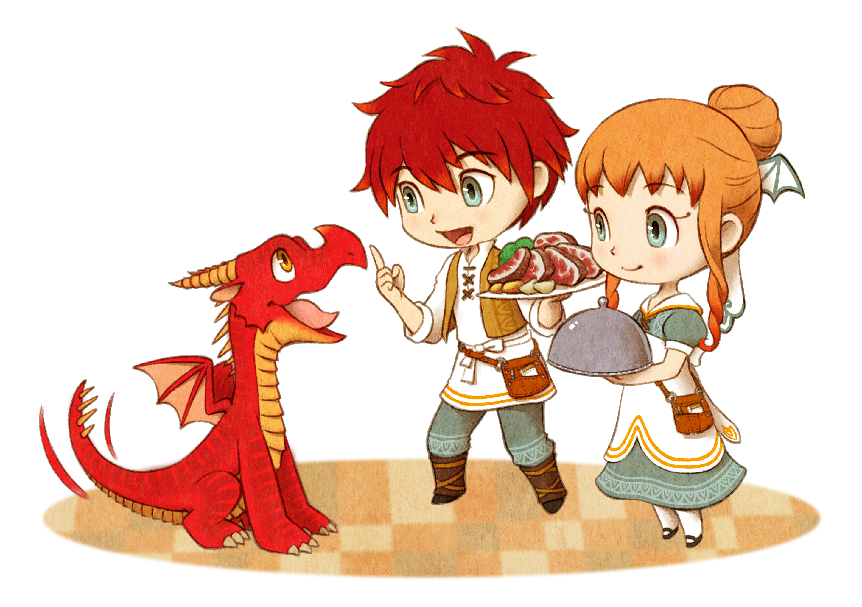 Little Dragons Cafe Character Art