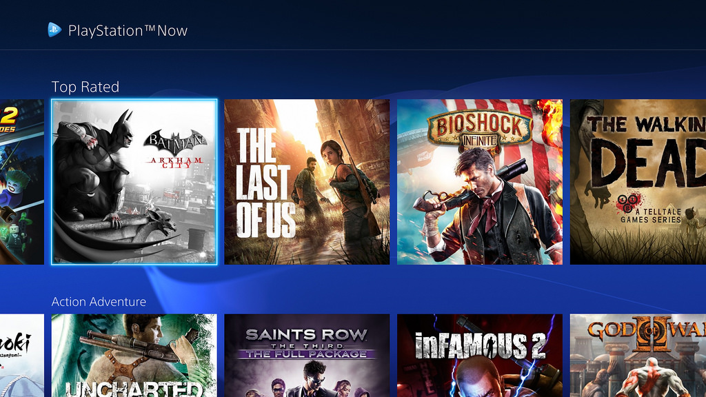 PlayStation Now July 2015 UI Update