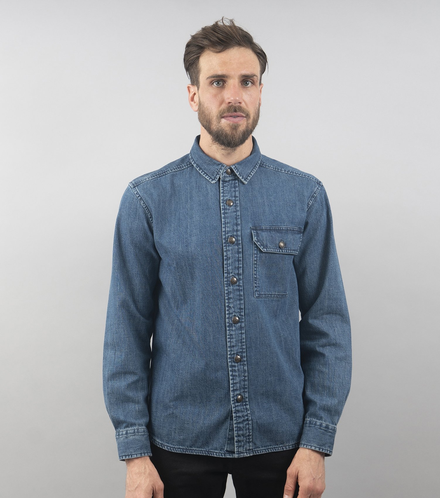 Denim Chore Shirt (Indigo)