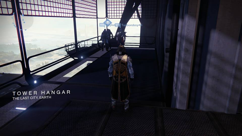 Xur – Agent of the Nine can be found to the right when you go down the Hangar stairs.